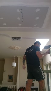 Gyprock ceiling and ornate cornice